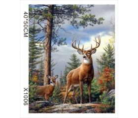 """Картина-раскраска по номерам 40x50 """"Гордый олень"""""""