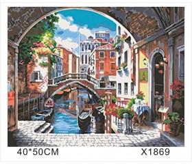 """Картина-раскраска по номерам 40x50 """"Венеция"""""""