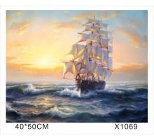 "Картина-раскраска по номерам 40x50 ""Бригантина"""
