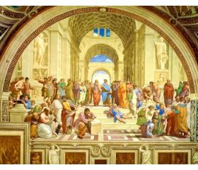 """Картина-раскраска по номерам 40x50  """"Афинская школа"""" (Рафаэль)"""