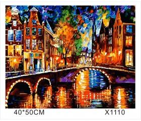 """Картина-раскраска по номерам 40x50 """"Мост"""""""