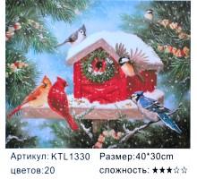 """Картина по номерам 30х40 """"Новогодний скворечник"""" KTL1330"""