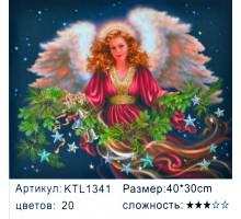 """Картина по номерам 30х40 """"Рождественская фея"""" KTL1341"""