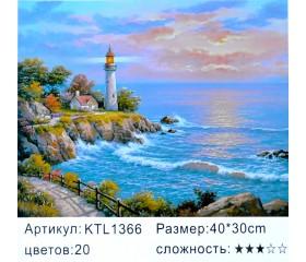 "Картина по номерам 30х40 ""Маяк"" KTL1366"