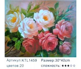 """Картина по номерам 30х40 """"Букет роз"""" KTL1459"""