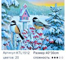 "Картина по номерам 30х40 ""Синички"" KTL1512"