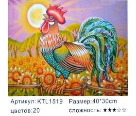 """Картина по номерам 30x40 """"Золотой петушок"""" KTL1519"""