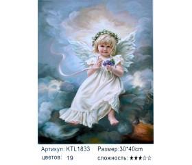 """Картина по номерам 30х40 """"Ангелочек"""" KTL1833"""