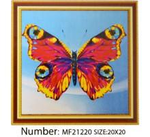 Алмазная мозаика 20x20 неполная выкладка