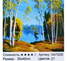 """Алмазная мозаика """"Тропинка к озеру"""" 40х50"""