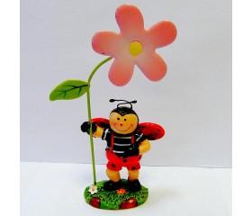 Декоративная фигурка «Божия коровка с цветком» (мальчик)