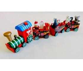 Игрушка деревянная «Новогодний паровоз»