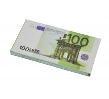"""Денежный блокнот """"100 евро."""" 100л."""