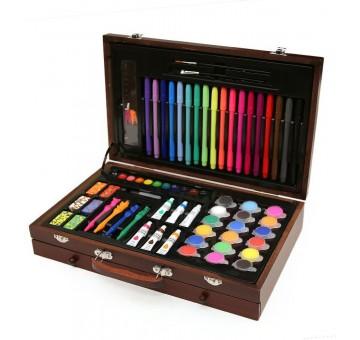 Набор для рисования в деревянном чемоданчике