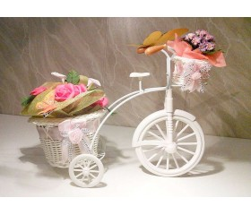 """Кашпо """"Велосипед"""" с 2 мя корзинками 30х22х13 см"""