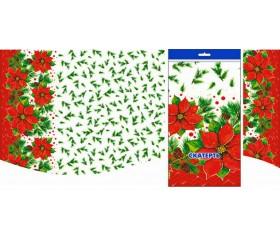 Скатерть новогодняя «Зимний цветок» ПВД, 120*180см/35 мкм
