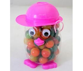 Мяч каучуковый 2-цветный