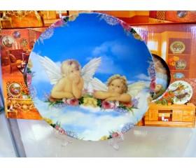 """Блюдо-панно декоративное """"Ангелочки"""""""