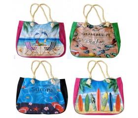 Пляжная сумка на молнии 53х37см