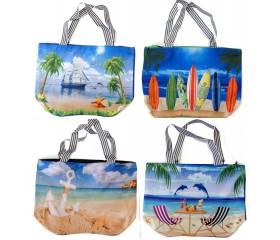 Пляжная сумка на молнии 50х35см