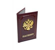 """Обложка для паспорта """"Герб"""" бордо"""