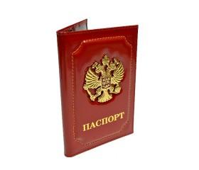 """Обложка для паспорта """"Герб"""" красная"""