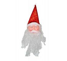 Украшение подвесное «Дед Мороз» с пушистой бородой