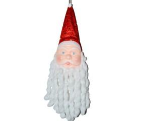 Украшение подвесное «Дед Мороз» с кучерявой бородой