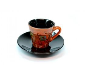 Набор кофейный: 6 чашек с блюдцами