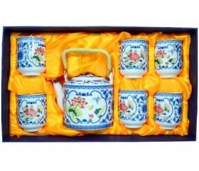 Набор чайный: 6 чашек + заварочный чайник