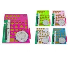 Набор для квиллинга: доска-шаблон на пробковой основе, пинцет для квиллинга, булавки