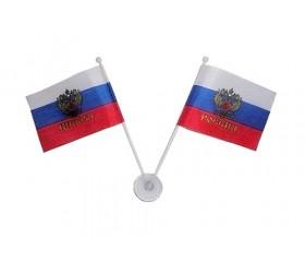 Флажок российский 2шт на присоске