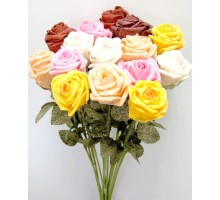 """Цветы """"Роза с блёстками"""""""