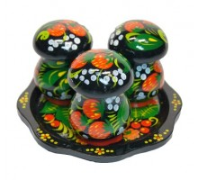 "Набор грибов на тарелке ""Хохлома"""