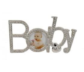 "Фоторамка металл со стразами ""Baby"""