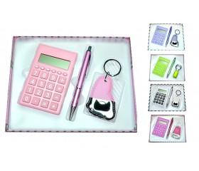 Подарочный набор: калькулятор + ручка + брелок