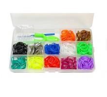 Набор для плетения в пласт.боксе: 400 резинок, 1рогатка, 2крючка, S-клипсы