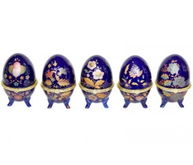 """Шкатулка """"Пасхальное яйцо"""" синяя"""