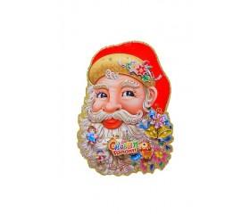 """Панно с блёстками """"Дед Мороз"""" 22х30см"""