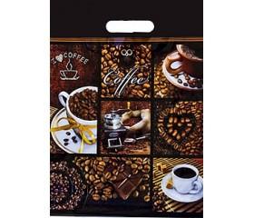 Полиэтиленовый пакет ламинат 31х40 60мкм  «Кофе»