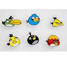 """Набор из 6 зажимов """"Angry Birds"""""""
