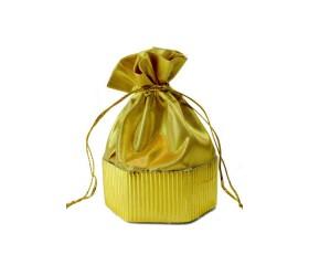 Мешочек для подарков из парчи 6-гранное дно