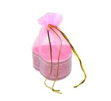 Мешочек для подарков из тюля дно-сердце