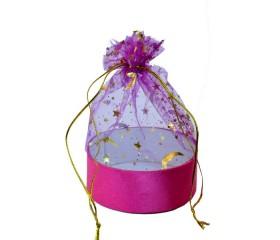 Мешочек для подарков из органзы круглое дно
