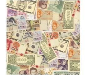 Бумага 100*70 Дизайнерская бумага «Деньги»