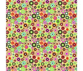 Бумага 100*70 Дизайнерская бумага «Цветные кружки»