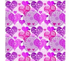 Бумага 100*70 Дизайнерская бумага «Ажурные сердца»
