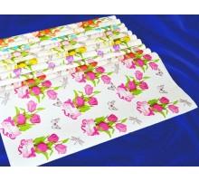 Крафт бумага на белом «Тюльпаны»