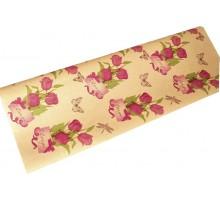 Крафт бумага  «Тюльпаны»  ассорти