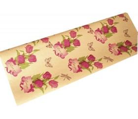 Крафт бумага  «Тюльпаны»
